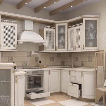 оформление белой кухни в греческом стиле