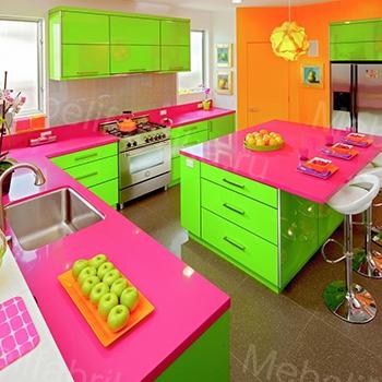 фото яркого дизайна кухни