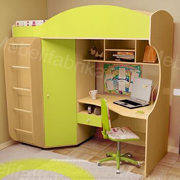 желтая мебель для детской комнаты