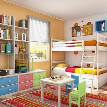 детская комната для двоих малышей