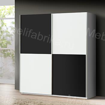 черно-белая дверь для шкафов купе
