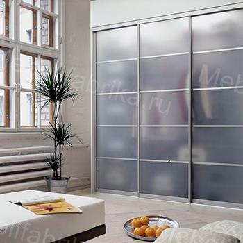 прозрачные двери на шкаф купе