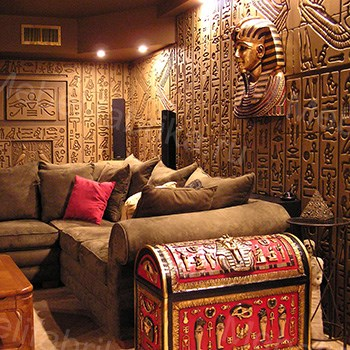 интерьер египетского стиля в гостиной