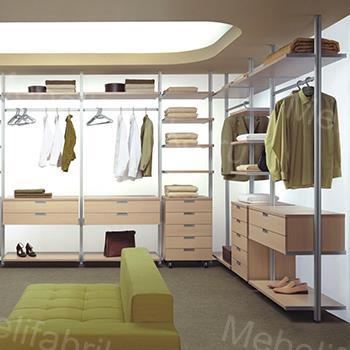 система обустройства гардеробной комнаты