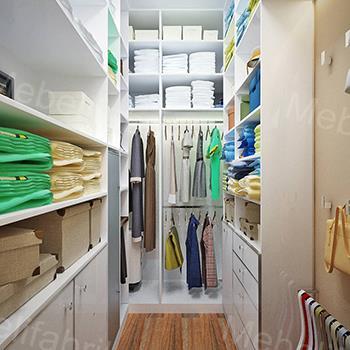 внутреннее наполнение гардеробной комнаты