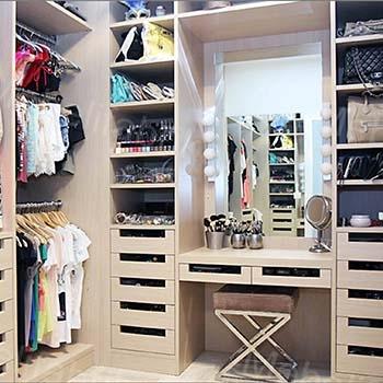 гардеробная для малогабаритной квартиры