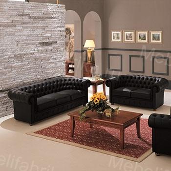кожаная мебель в дизайне спальни