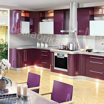 фиолетовая акриловая кухня