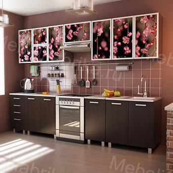 кухня из акрила с фотопечатью