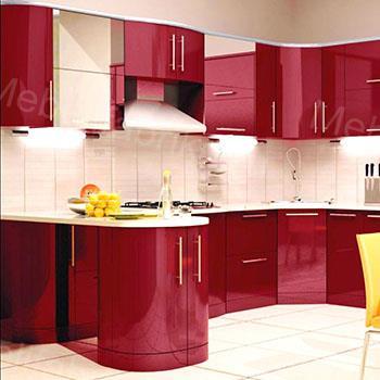фото мебели для кухни из акрила