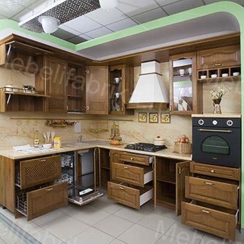 фото мебели для кухни из массива