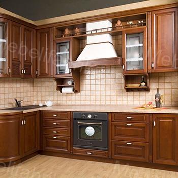 дизайн кухни из массива