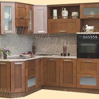 кухня из массива с рамочным фасадом