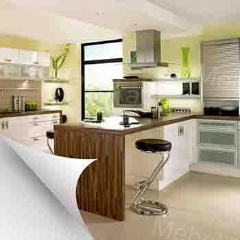 кухня из шпона в современном стиле