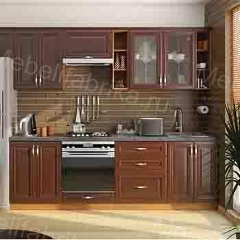 современная мебель для кухни из шпона