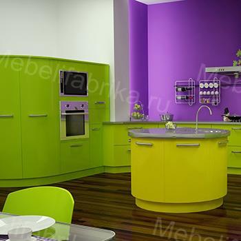 яркая мебель для кухни