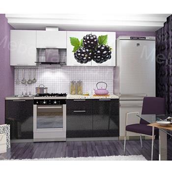 кухня черно-белая с фотопечатью