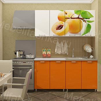 кухня персик с фотопечатью