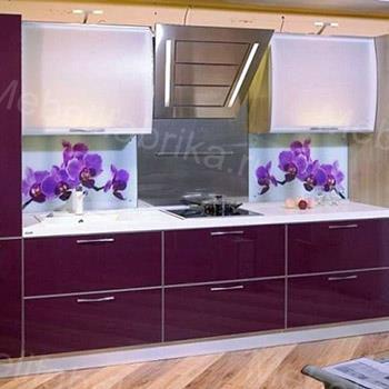 кухня глянцевая с фотопечатью