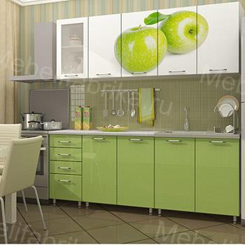кухня с яблоком с фотопечатью