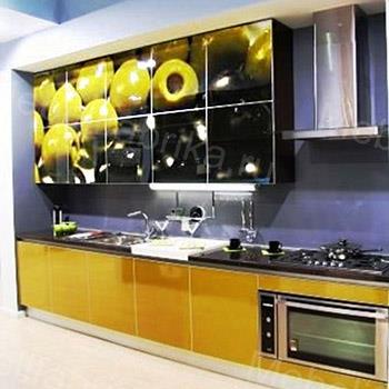кухня оливки с фотопечатью
