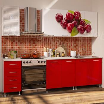 кухня вишня с фотопечатью