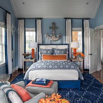 морской стиль для спальни