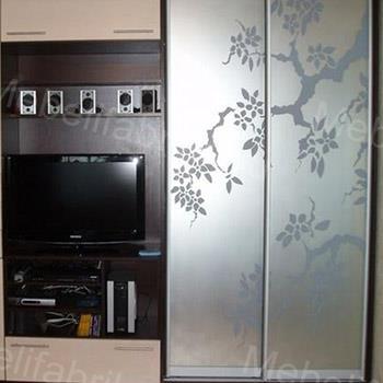 оригинальный дизайн пескоструйного рисунка на шкафу