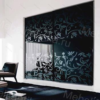 черная мебель с пескоструйным рисунком