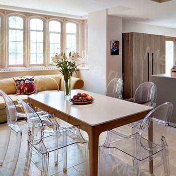 прозрачность мебели для столовой