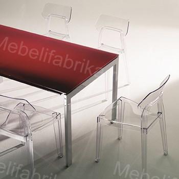прозрачные стулья на заказ