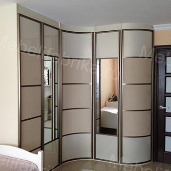 радиусный шкаф купе для спальни