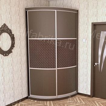 радиусный шкаф в стиле хай-тек