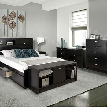 спальная комната в стиле модерн