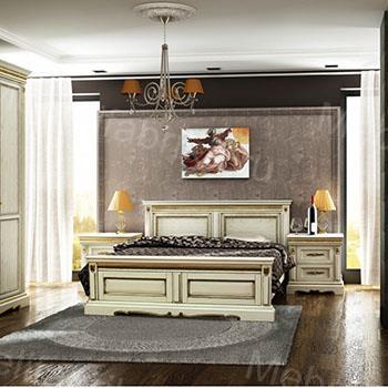 мебель для спальни в постельных тонах