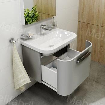 интерьер ванны с тумбочкой с раковиной