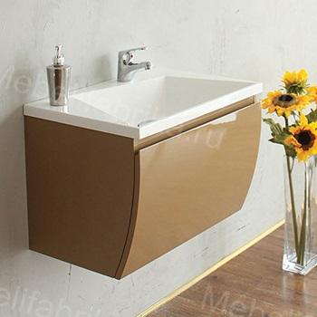 интерьер ванной комнаты с тумбой с раковиной
