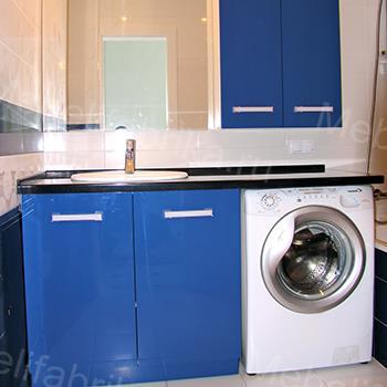 синяя влагостойкая мебель для ванной