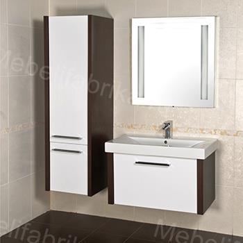 светлая влагостойкая мебель для ванной